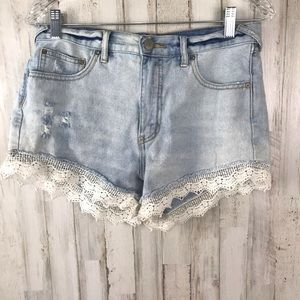 Free People Lacey  High Rise Cut Off Shorts 28